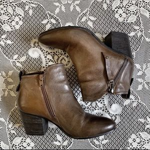 STEVE MADDEN | Brown Boho Pointy Toe Ankle Boots